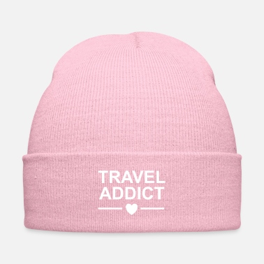 Travel Travel addict heart / bug, lust, - Knit Cap