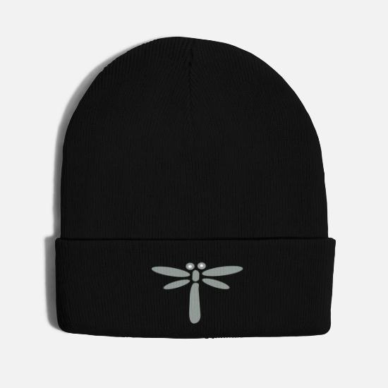 Pattern Caps - dragonfly - Knit Cap black