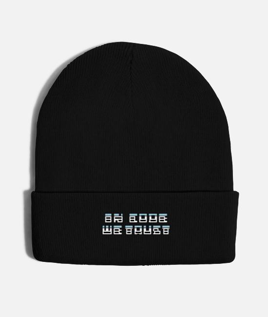 Sql Table Caps & Hats - in code we trust - Knit Cap black