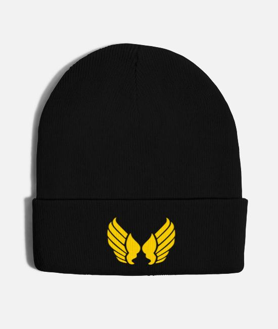 Wing Caps & Hats - wings - Knit Cap black