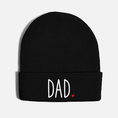 Dad To Be Dad Heart - Gift Father's Day Love Family - Knit Cap