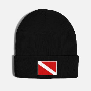 Under Water Diver flag - Knit Cap