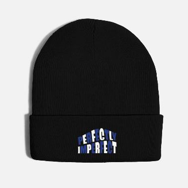 Quote perfectly imperfect quote - Knit Cap