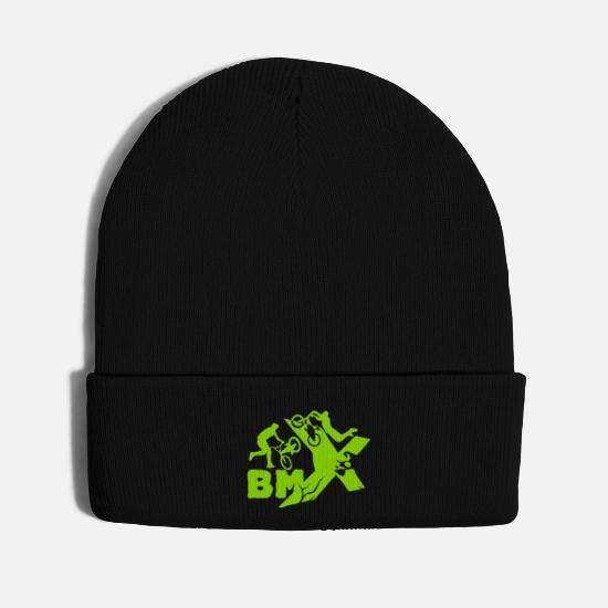 Bmx Caps - BMX [small size design] - Knit Cap black