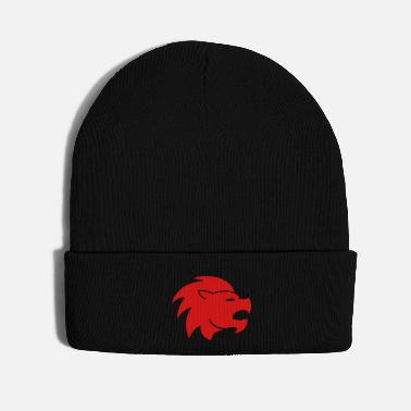 Mascot lion head 1c - Knit Cap