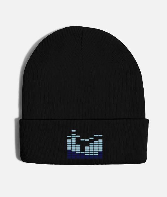 Bass Caps & Hats - eq_blue_f3 - Knit Cap black