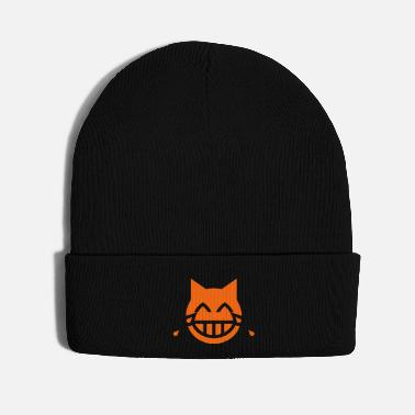 Tear Tears of Joy Emoji Cat - Knit Cap