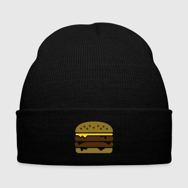 Burger with cheese - Knit Cap with Cuff Print