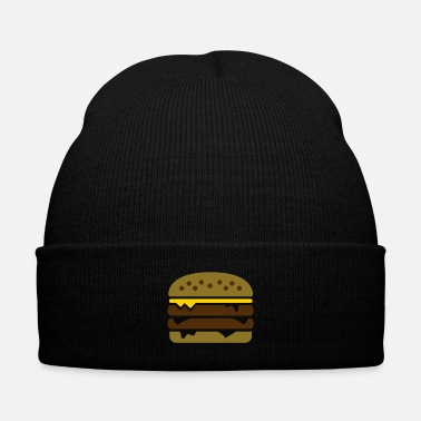 Tasty Burger with cheese - Knit Cap with Cuff Print