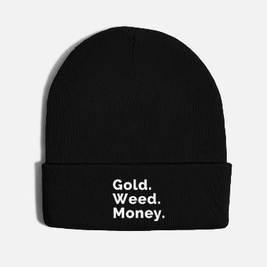 Higher State Of Gold. Weed. Money. - Knit Cap