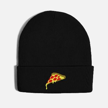 Tongue pepperoni pizza slice - Knit Cap