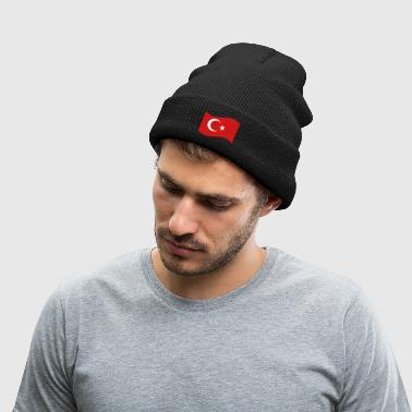 Turkish Flag - Knit Cap with Cuff Print