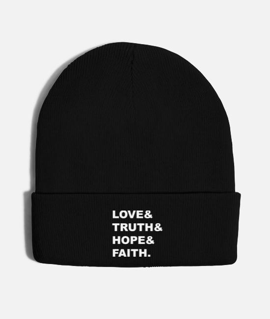 Quote Caps & Hats - Love & - Knit Cap black