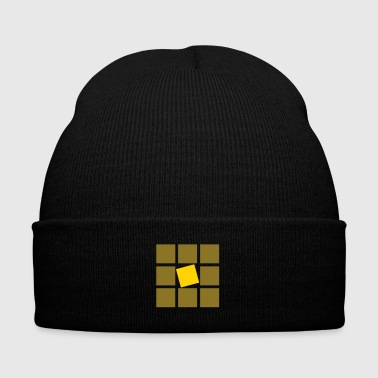 GOLDEN BOY - Knit Cap with Cuff Print
