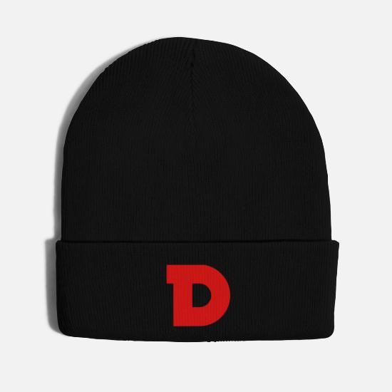 Red Caps - Dlta Red Logo no boarder - Knit Cap black