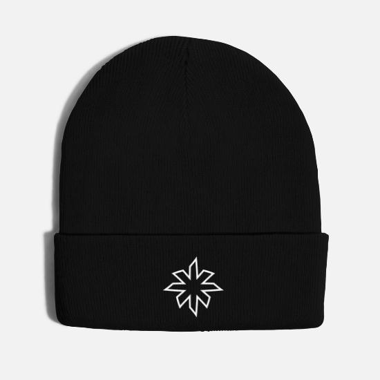 Ornaments Caps - minimalistic star - Knit Cap black