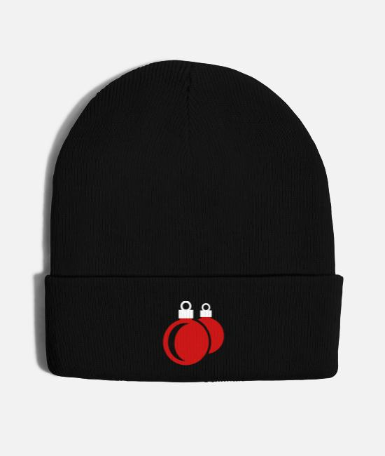Contemplation Caps & Hats - Christmas balls - xmas - Knit Cap black