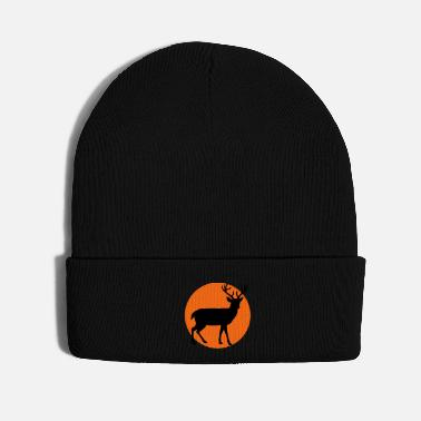 Animal Forest Animal Shirt Deer in the moon - Knit Cap