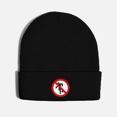 Antisocial NO Ball Games Sign - Knit Cap