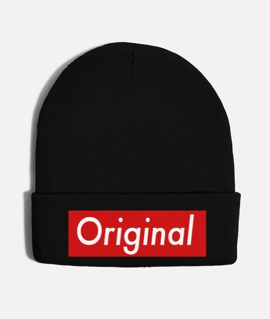 Red Caps & Hats - Original Red Box - Knit Cap black