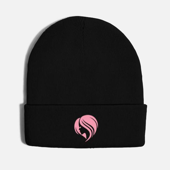 Love Caps - Glamour Hair - Knit Cap black