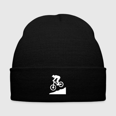 Downhill biking - Knit Cap with Cuff Print