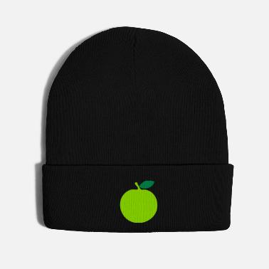 Green Text ♥ټEat More Fresh Green Apple-Best Fruitټ♥ - Knit Cap