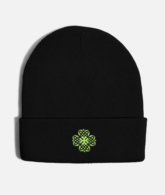 Druid Caps & Hats - shamrock celtixc decoration patjila2_cs2 - Knit Cap black
