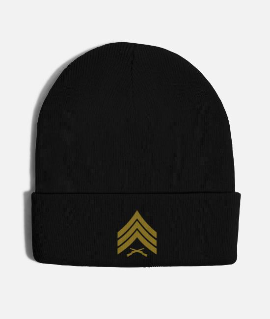 Marines Mision Militar Caps & Hats - Sergeant Sgt Rank Marines, Mision Militar ™ - Knit Cap black