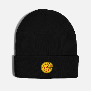 Food pizza with salami, cheese and mushroom fast food - Knit Cap