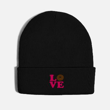 Vector Most Loved Fast Food Design Cakes Breads ♥ټLove Choco Doughnut-Heavenly Donutټ♥ - Knit Cap
