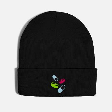 Aggressive pills medicine doctor pharmacy physician - Knit Cap