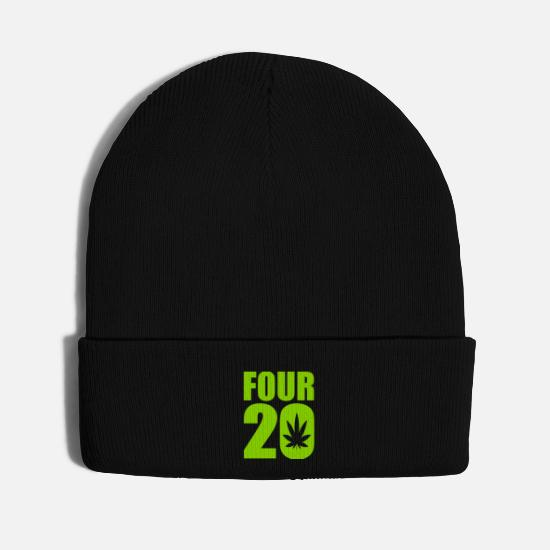 Pothead Caps - Four 20 - Knit Cap black