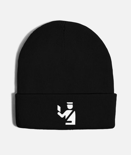 Automobile Caps & Hats - Traffic Warden - Knit Cap black