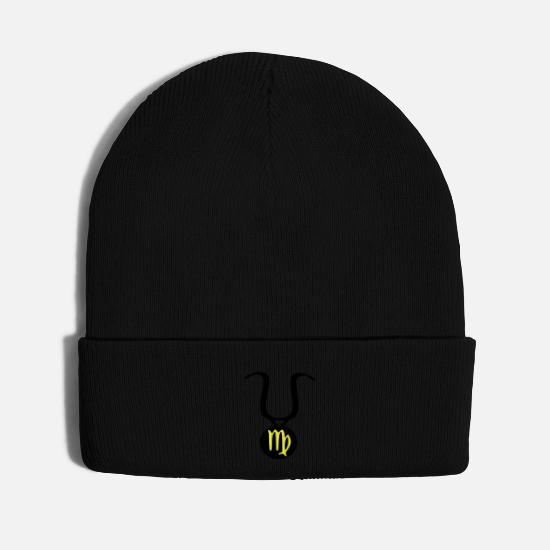 Symbol  Caps - zodiac_sign__virgo - Knit Cap black