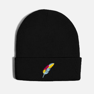A colorful feather - Knit Cap