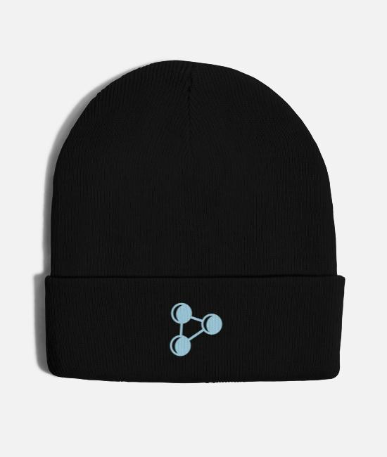 Periodic Table Caps & Hats - atom biology chemistry physics elements - Knit Cap black