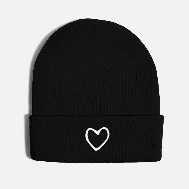 Valentine's Day Heart Drawing for Valentines Day - Knit Cap
