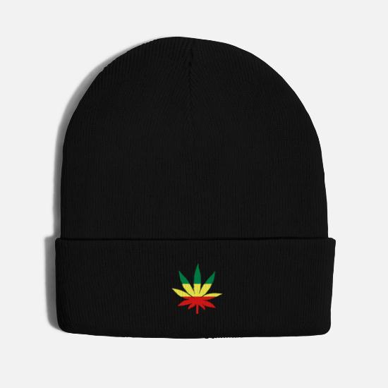Weed Caps - weed - Knit Cap black