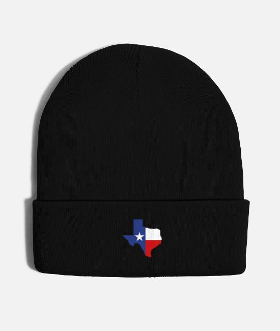 Cool Texas Caps & Hats - Texas - Knit Cap black