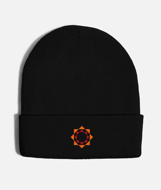 Circle Icon Caps & Hats - mandala - Knit Cap black