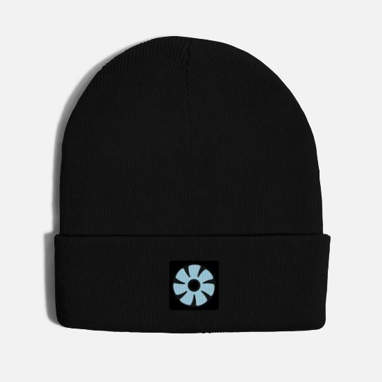 Pilot Caps - computer exhauster ventilator PC - Knit Cap black