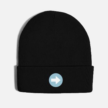 Drive Go By Car arrow sign right way - Knit Cap