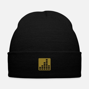 Dj DJ Equalizer Beat - Knit Cap with Cuff Print