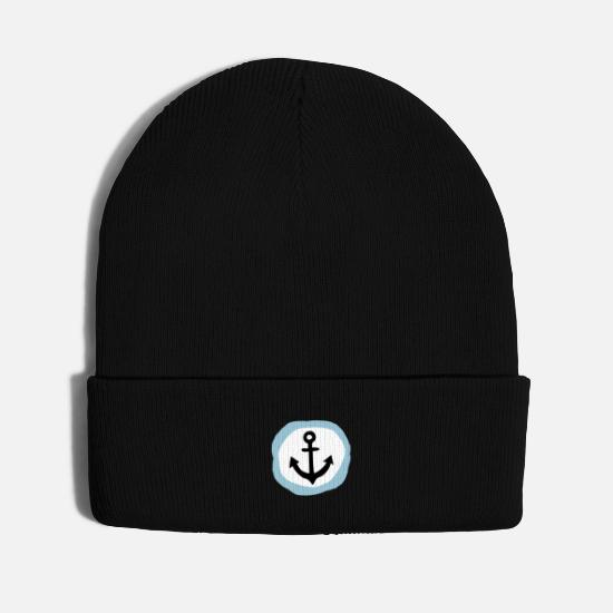 Harbour Caps - Anchor gift for the maritime sailor and skipper - Knit Cap black