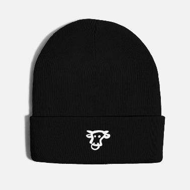 Drawing An Amateur Drawing of A Cow - Knit Cap