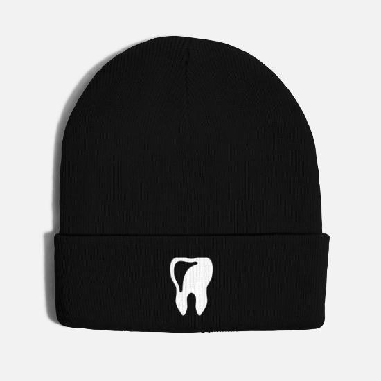 Body Caps - tooth - dentist - Knit Cap black