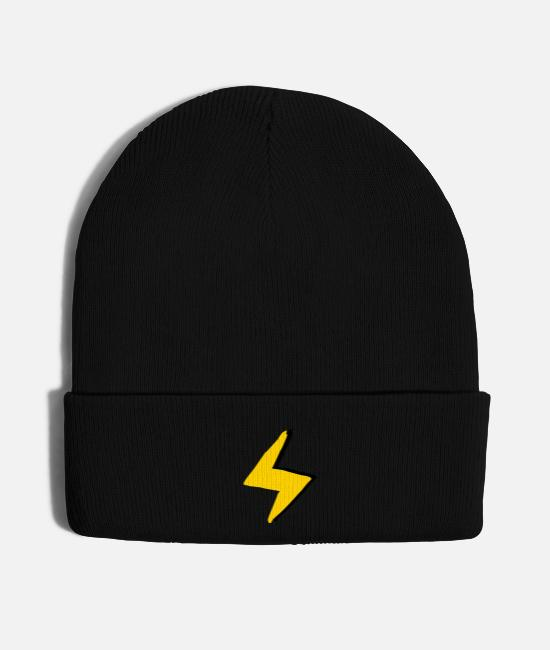 Superhero Caps & Hats - Lightning flash - Knit Cap black