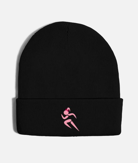 #ponytails Caps & Hats - ❤✦Sexy Female Sprinter Wearing a Pony tail✦❤ - Knit Cap black
