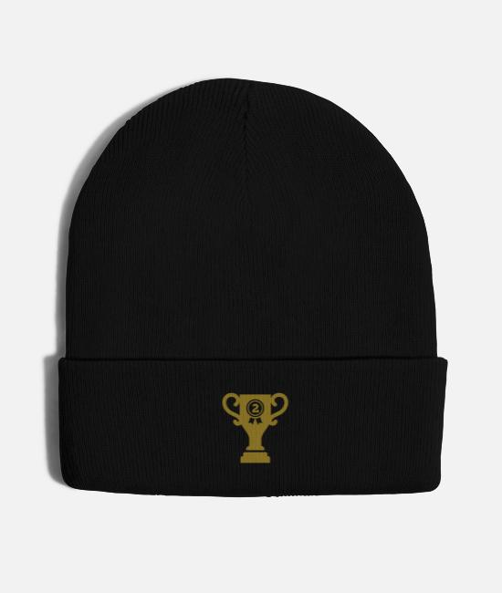 Game Caps & Hats - cup trophy second winner first loser - Knit Cap black